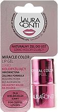 Fragrances, Perfumes, Cosmetics Moisturizing Pink Color Lip Gel - Laura Conti Miracle Color Lip Gel