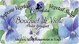 """Fragrances, Perfumes, Cosmetics Natural Soap """"Violet Bouquet"""" - Florinda Sapone Vegetale Vegetal Soap Violet Bouquet"""