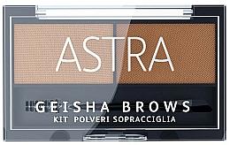 Brow Set - Astra Make-up Geisha Brows Eyebrow Powder Kit (01 -Blonde) — photo N1