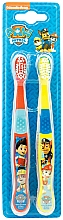 Fragrances, Perfumes, Cosmetics Toothbrush Set, Soft, red+yellow - Nickelodeon Paw Patrol (toothbrush/2szt)