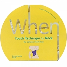 Fragrances, Perfumes, Cosmetics Biocellulose Anti-Aging Neck Mask - When Youth Recharger For Neck Bio-Cellulose Mask