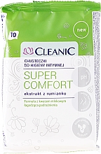 Fragrances, Perfumes, Cosmetics Intimate Wipes, 10 pcs - Cleanic Super Comfort Wipes