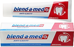 """Fragrances, Perfumes, Cosmetics Toothpaste """"Anti-Caries"""" - Blend-a-med Anti-Cavity Original Toothpaste"""