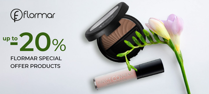 Up to 20% off Flormar special offer products. Prices on the site already include a discount