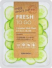 Fragrances, Perfumes, Cosmetics Refreshing Cucumber Sheet Mask - Tony Moly Fresh To Go Mask Sheet Cucumber