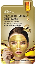 Fragrances, Perfumes, Cosmetics Firming Face Sheet Mask with Gold - 7th Heaven Renew You 24K Gold Firming Sheet Mask