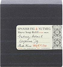 Fragrances, Perfumes, Cosmetics Bath House Spanish Fig and Nutmeg - Shave Soap Refill