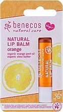 "Fragrances, Perfumes, Cosmetics Lip Balm ""Orange"" - Benecos Natural Care Lip Balm Orange"