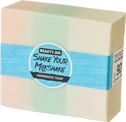 Glycerin Soap with Cream Raspberry Scent - Beauty Jar Shake Your Milkshake Handmade Soap