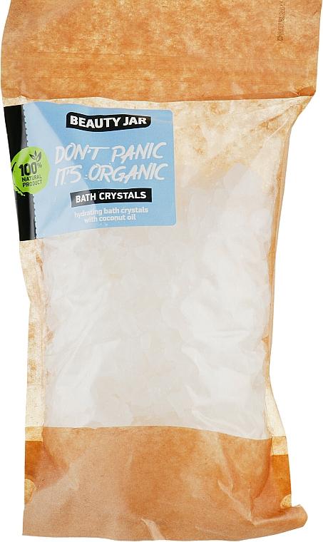 "Moisturizing Bath Crystals with Coconut Oil ""Don't Panic it's Organic"" - Beauty Jar Bath Crystals"