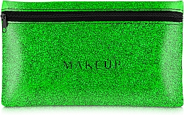 "Fragrances, Perfumes, Cosmetics Silicone Makeup Bag, green ""Glitter Pouch"", 22x13cm - MakeUp"