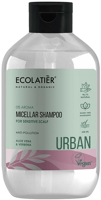 """Micellar Shampoo for Sensitive Scalp """"Aloe Vera & Verbena"""" - Ecolatier Urban Micellar Shampoo"""