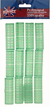 Fragrances, Perfumes, Cosmetics Velcro Rollers 20/63, green - Ronney Professional Velcro Roller
