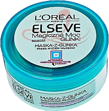 Fragrances, Perfumes, Cosmetics Normal & Oily-Prone Hair Mask - L'Oreal Paris Elseve Extraordinary Clay Mask