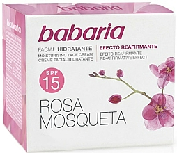 Fragrances, Perfumes, Cosmetics Moisturizing Face Cream with Rose Hip SPF 15 - Babaria Face Cream With Rose Hip SPF15