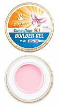 Fragrances, Perfumes, Cosmetics Camouflage Gel Polish, 15 ml - F.O.X Cover Camouflage Builder Gel