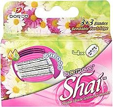 Fragrances, Perfumes, Cosmetics Replaceable Cassettes, 4 pcs - Dorco Shai 3+3