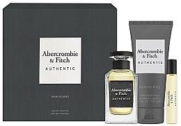 Fragrances, Perfumes, Cosmetics Abercrombie & Fitch Authentic Men - Set (edt/100ml + edt/15ml + sh/gel/200ml)