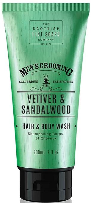 Vetiver & Sandalwood Shower Gel-Shampoo - Scottish Fine Soaps Vetiver & Sandalwood Hair Body Wash