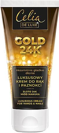 Luxurious Hand & Nail Cream - Celia De Luxe Gold 24K Luxurious Hand & Nail Cream