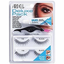 Fragrances, Perfumes, Cosmetics False Lashes Kit - Ardell Deluxe Pack 110 Black