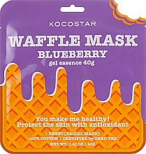 """Fragrances, Perfumes, Cosmetics Anti-Inflammatory Waffle Mask """"Blueberry Fresh"""" - Kocostar Blueberry Waffle Mask"""
