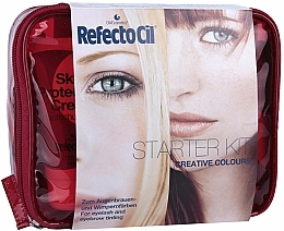 "Fragrances, Perfumes, Cosmetics Set ""Starter Kit"" - RefectoCil (cr/75ml + fluid/100ml + fluid/100ml + oxidant/100ml + h/color/6x15ml/ + paper/80pcs. + brush/5pcs. + palette/1pcs. + disc + bag)"