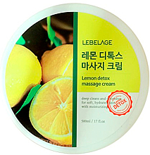 Fragrances, Perfumes, Cosmetics Massage Body Cream - Lebelage Lemon Detox Massage Cream