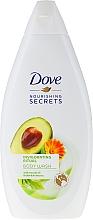 Fragrances, Perfumes, Cosmetics Shower Gel with Avocado Oil and Marigold Extract - Dove Nourishing Secrets Invigorating Shower Gel