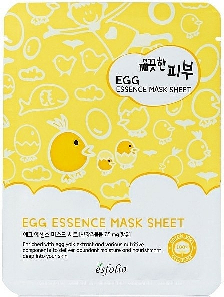 Egg Facial Sheet Mask - Esfolio Pure Skin Egg Essence Sheet Mask