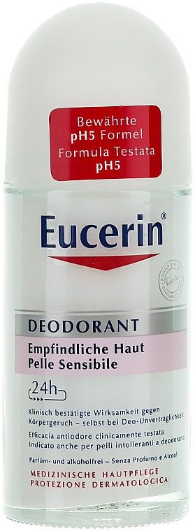 Roll-On Antiperspirant - Eucerin Deodorant Empfindliche Haut 24h roll-on — photo N1