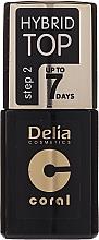 Fragrances, Perfumes, Cosmetics Top Coat - Delia Coral Hybrid Top Coat Gel