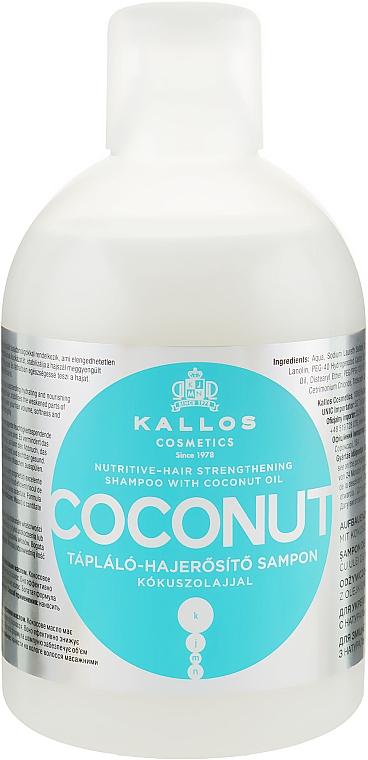 Nourishing & Strengthening Coconut Oil Shampooo - Kallos Cosmetics Coconut Shampoo
