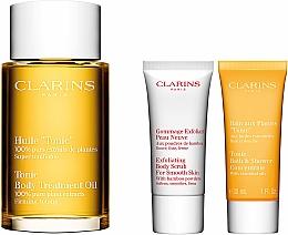 Set - Clarins Tonic (bath/f/30ml + b/scr/30ml + b/oil/100ml + bag) — photo N2