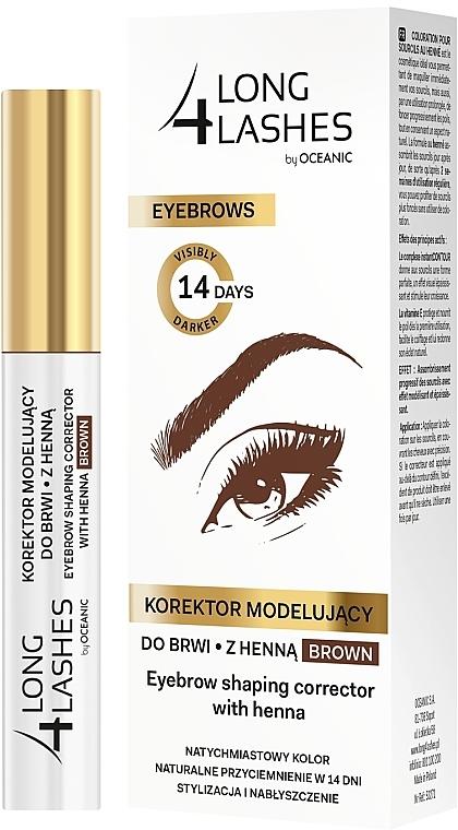 Brow Tnting Corrector - Long4Lashes Eyebrow Shaping Corrector with Henna