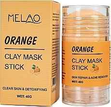 Fragrances, Perfumes, Cosmetics Orange Facial Mask Stick - Melao Orange Clay Mask Stick