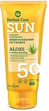Fragrances, Perfumes, Cosmetics Protective Face Cream - Farmona Herbal Care Sun SPF 50