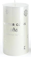 Fragrances, Perfumes, Cosmetics Scented Candle, White, 9x13 cm - Artman Winter Glass
