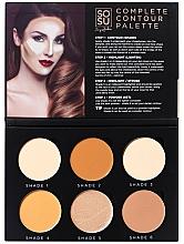Fragrances, Perfumes, Cosmetics Contour Palette - Sosu by SJ Magnetic Refillable Complete Contour Palette