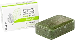 "Fragrances, Perfumes, Cosmetics Soap ""Sage"" - Styx Naturcosmetic Basic Soap With Sage"