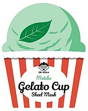 Fragrances, Perfumes, Cosmetics Face Sheet Mask - Dr. Mola Matcha Gelato Cup Sheet Mask