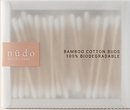 Fragrances, Perfumes, Cosmetics Bamboo Cotton Buds - Nudo Nature Made Bamboo Cotton Buds