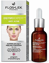 Fragrances, Perfumes, Cosmetics Normilizing Night Peeling - Floslek Dermo Expert Anti Acne Peeling