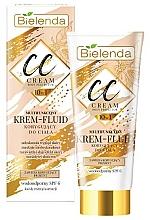 Fragrances, Perfumes, Cosmetics Body CC Cream-Fluid - Bielenda Magic CC 10in1 Body Correction Cream Waterproof Tanning Effect SPF6