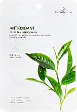 Fragrances, Perfumes, Cosmetics Sheet Mask with Green Tea Extract - Beauugreen Antioxidant Green Tea Essence Mask