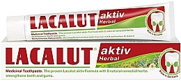 "Fragrances, Perfumes, Cosmetics Toothpaste ""Active Herbal"" - Lacalut Aktiv Herbal Toothpaste"