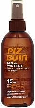 Fragrances, Perfumes, Cosmetics Protecting & Tan Accelerating Oil - Piz Buin Tan&Protect Tan Accelerating Oil Spray SPF15