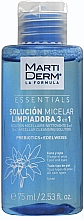 Fragrances, Perfumes, Cosmetics Micellar Solution Cleanser - MartiDerm Essentials Micellar Solution Cleanser 3in1