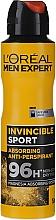Fragrances, Perfumes, Cosmetics Men Antiperspirant-Deodorant - L'Oreal Men Expert Invincible Sport Deodorant 96H