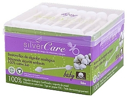 Fragrances, Perfumes, Cosmetics Baby Cotton Buds, 56pcs - Silver Care Coton
